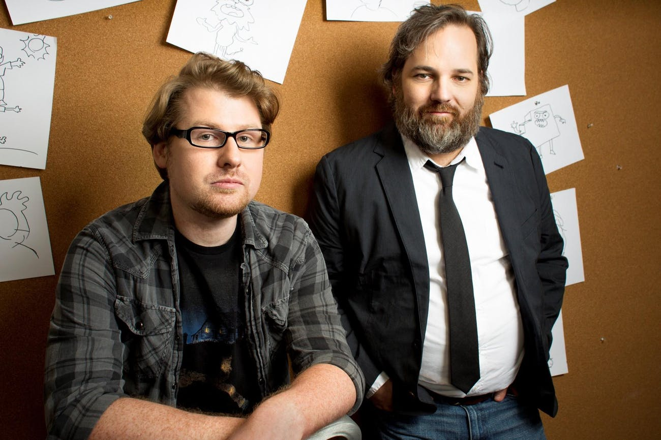 Justin Roiland (left) and Dan Harmon (right) are the co-creators of 'Rick and Morty'.