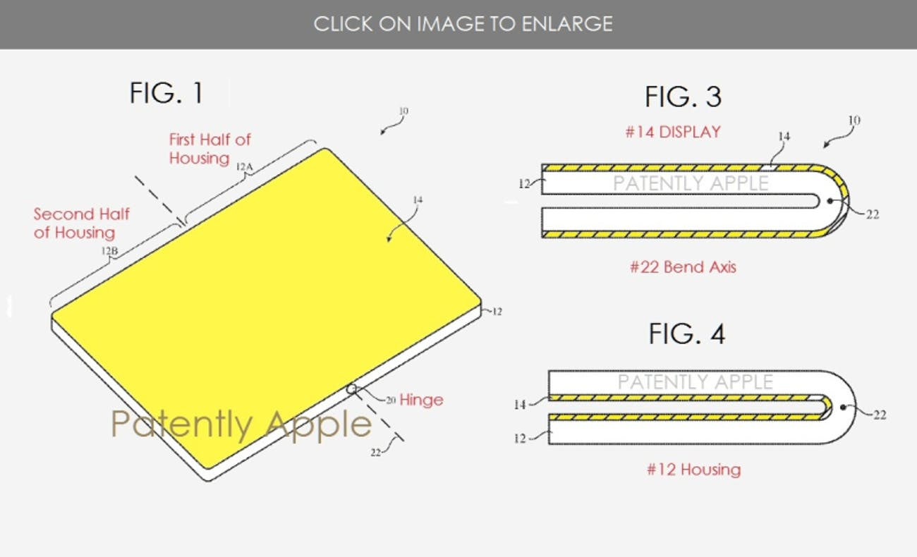 apple patent foldable smartphone iphone