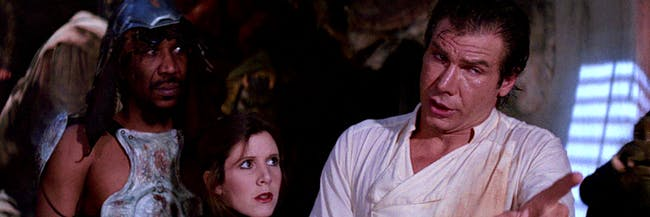 Han Solo's relationship with Jabba implies a long and storied past between the characters.