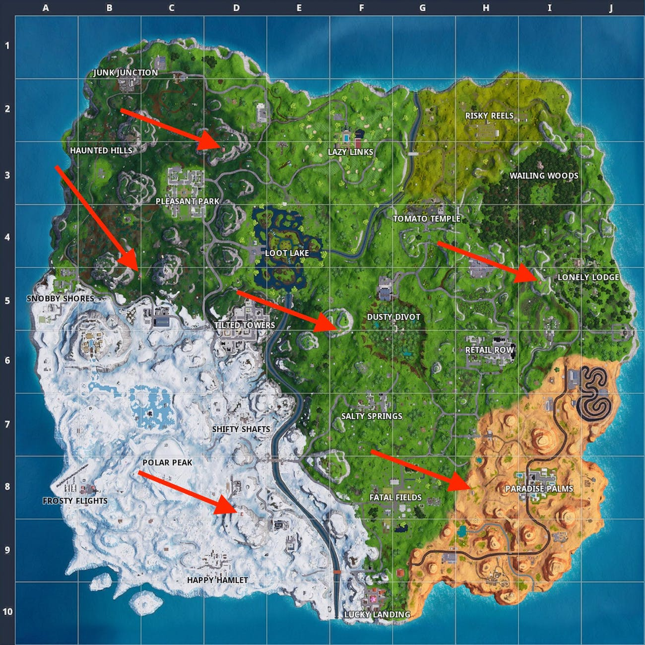 Fortnite Expedition Outpost Map