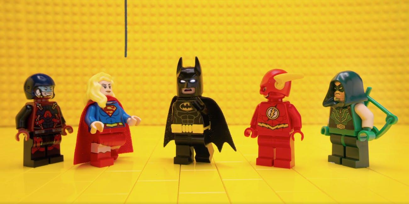 Lego Arrow Supergirl Batman Flash