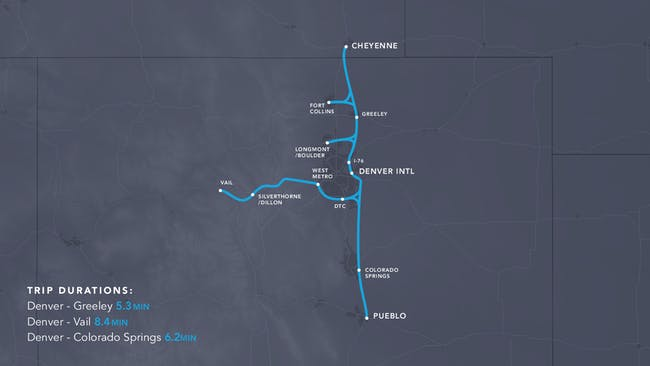 The Rocky Mountain route.
