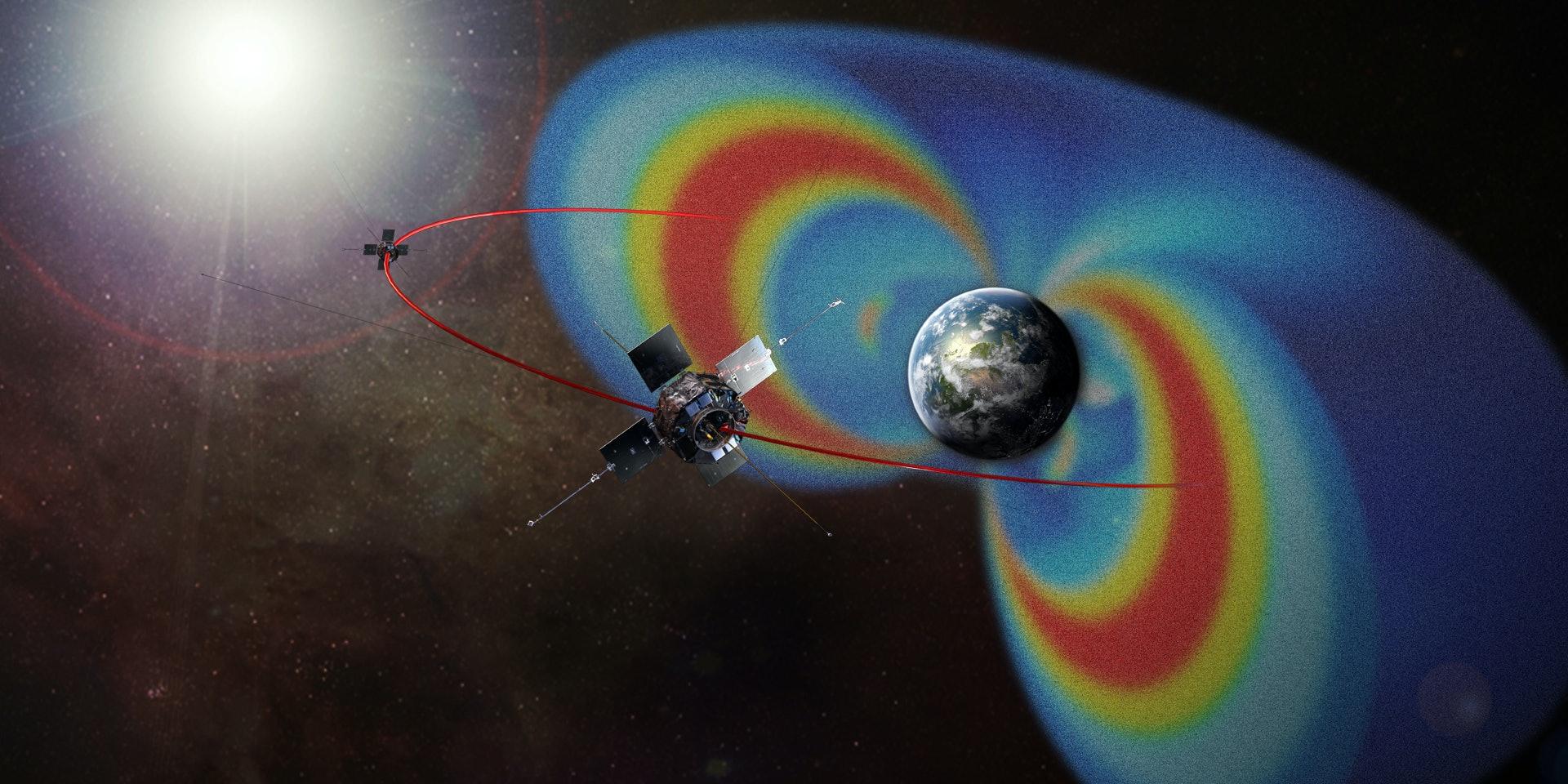 Artist's rendering of the Van Allen Probes mission