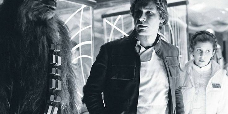 Han Solo Princess Leia and Chewbacca