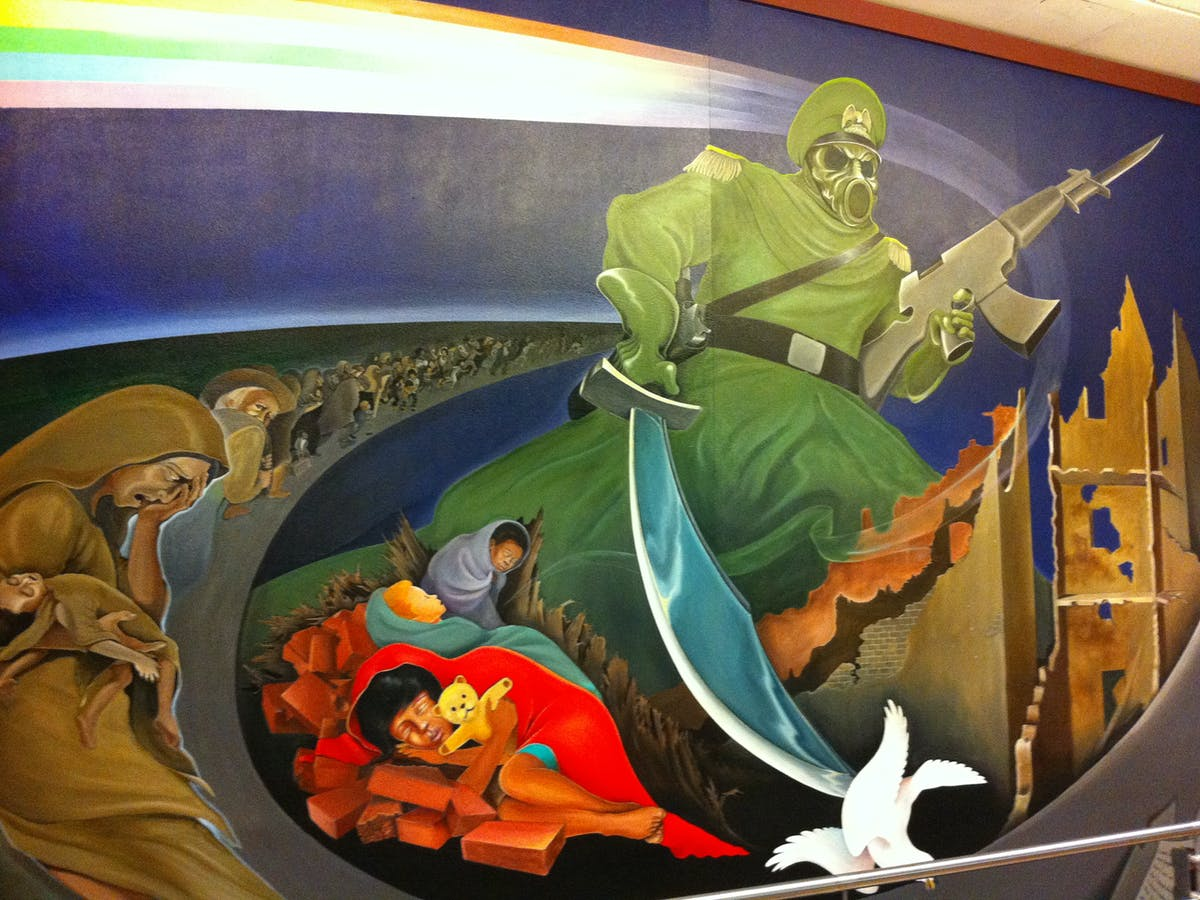Mural at Denver Airport