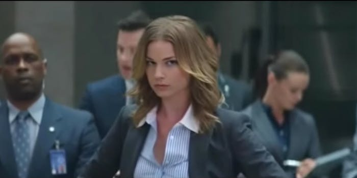"Sharon Carer in ""Captain America: The Winter Soldier"""