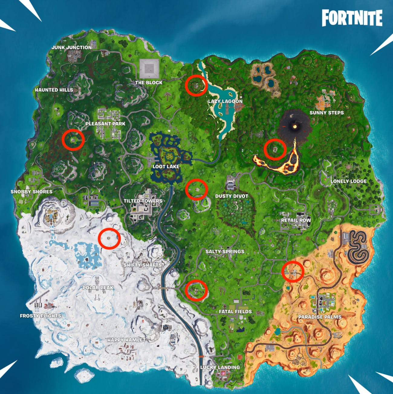 Fortnite\' Pirate Camp Locations Map: Where to Find All 7 in Season 8 ...