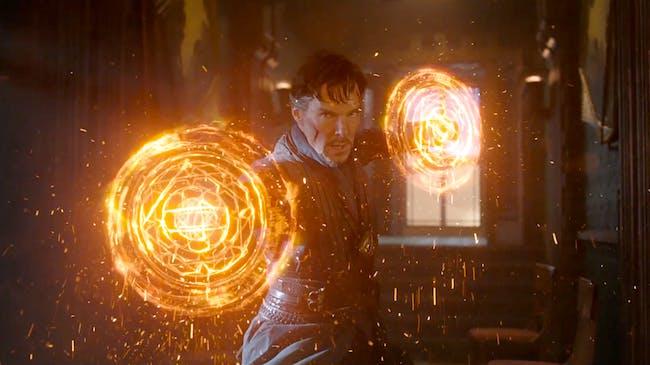 Stephen Strange defends the Sanctum Sanctorum.