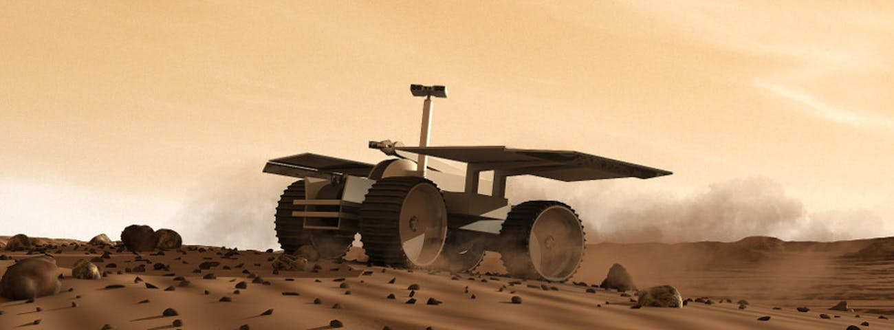 The Mars One rover.