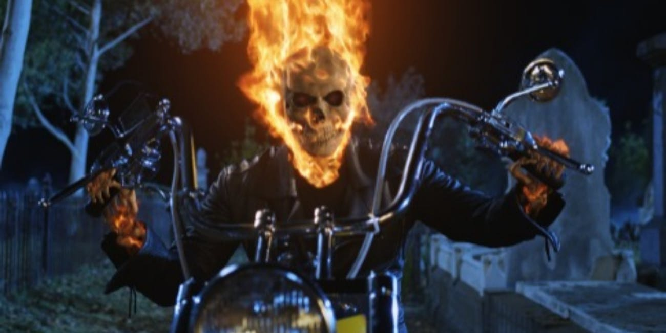 Nicolas Cage as Ghost Rider in 2007's 'Ghost Rider'