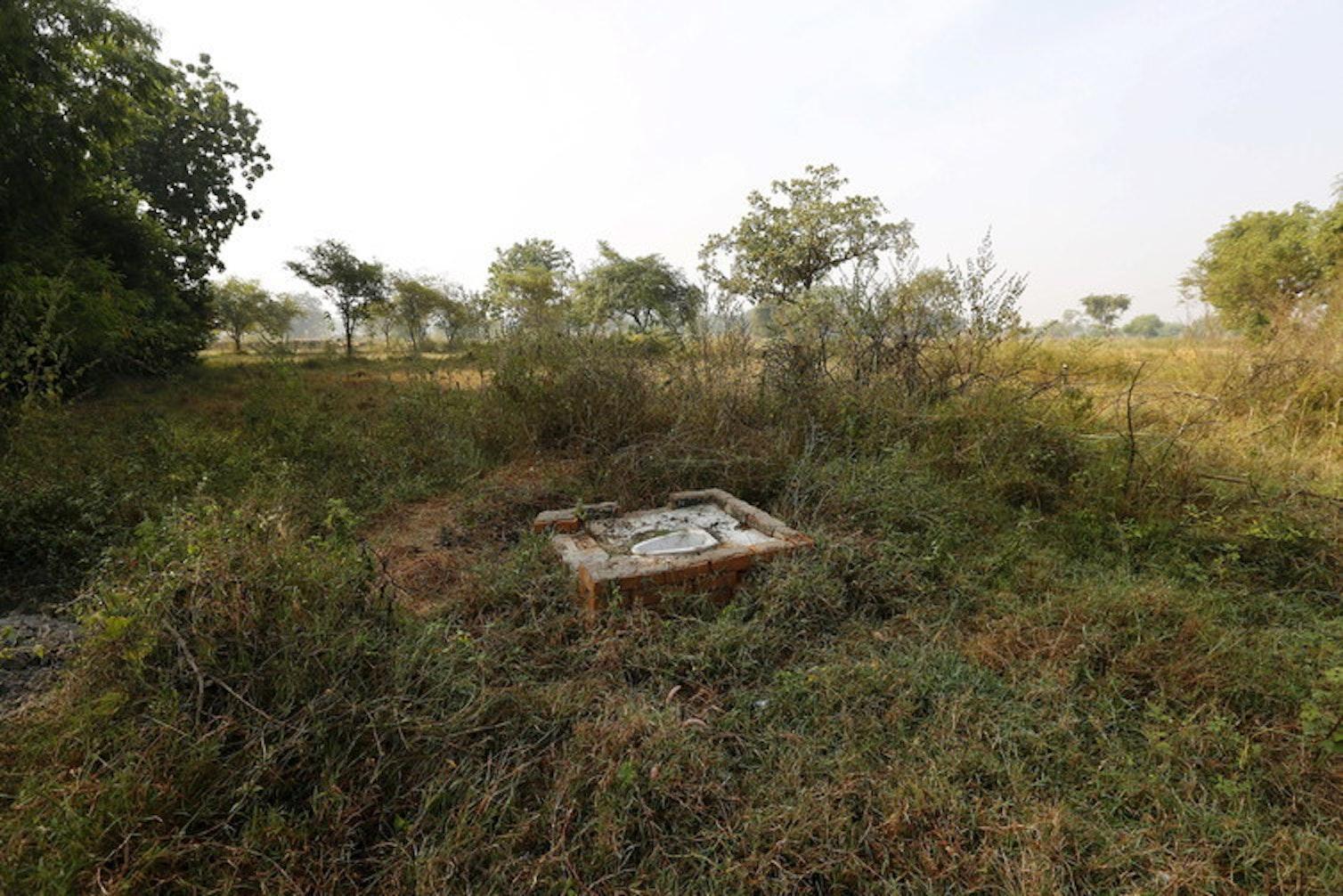 Open defecation spot in rural Chhattisgarh, central India.