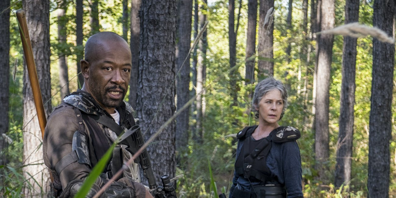 Morgan (Lennie James) and Carol (Melissa McBride) on 'The Walking Dead'.