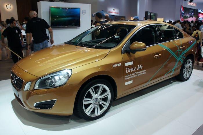 Volvo Drive Me autonomous driving test car.