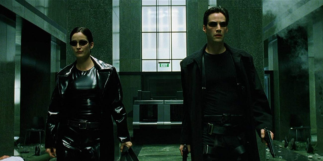 Neo and Trinity in 'The Matrix.'
