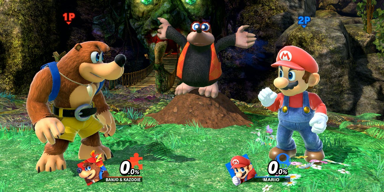 Super Smash Bros Maro Banjo Kazooie