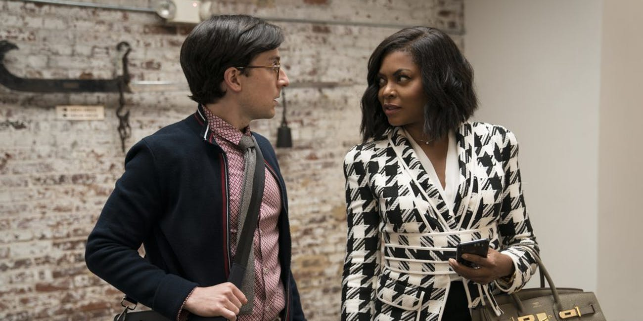 Josh Brener and Taraji P. Henson in 'What Men Want'.