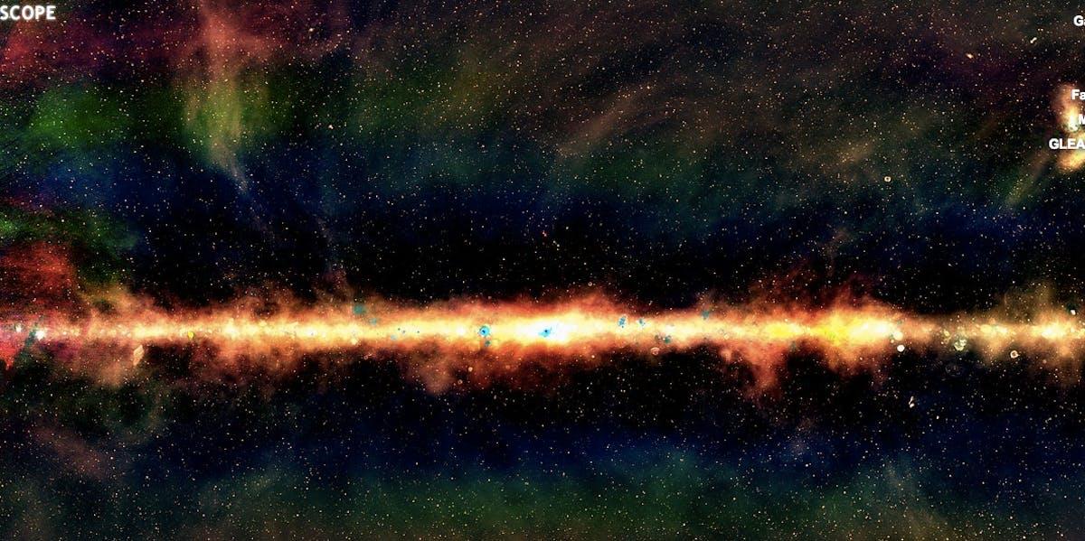 "The night sky in ""GLEAM"" vision"
