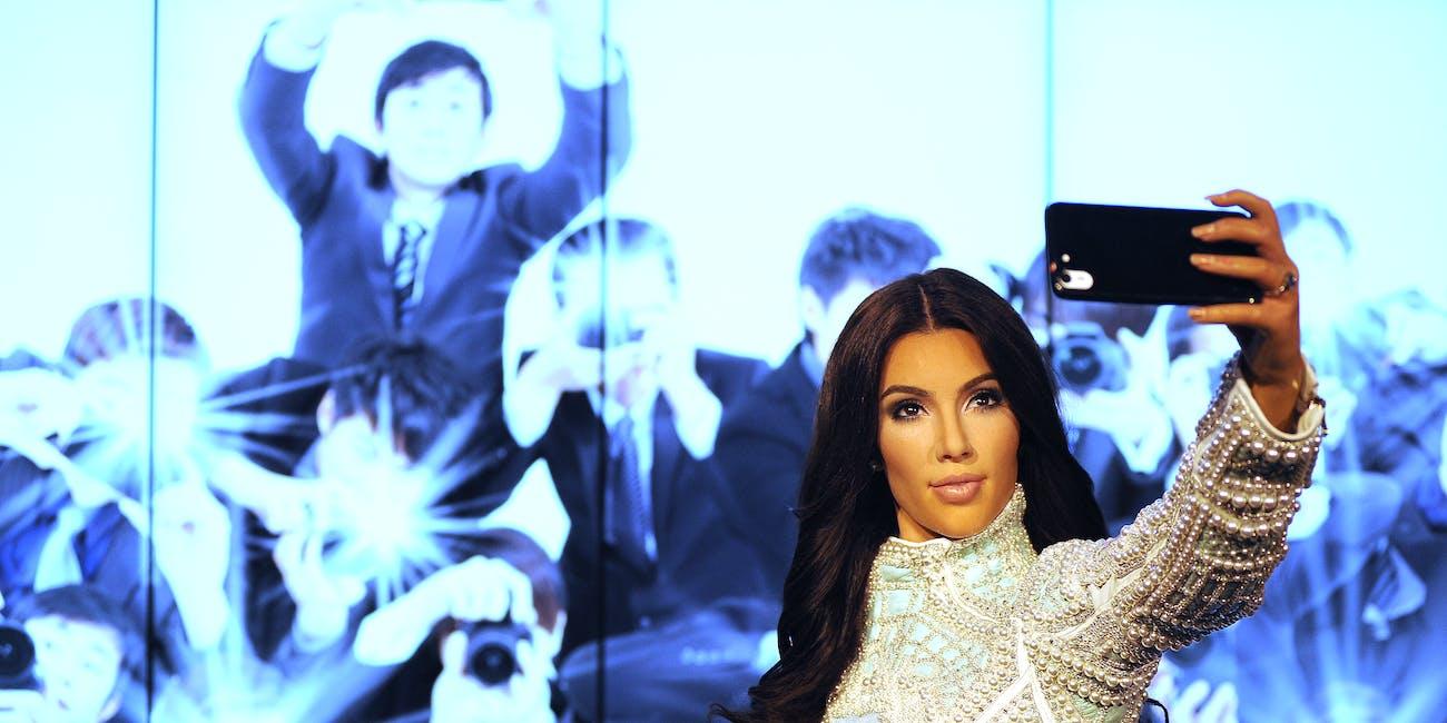 kim kardashian madame tussauds selfie loneliness narcissism sensitive