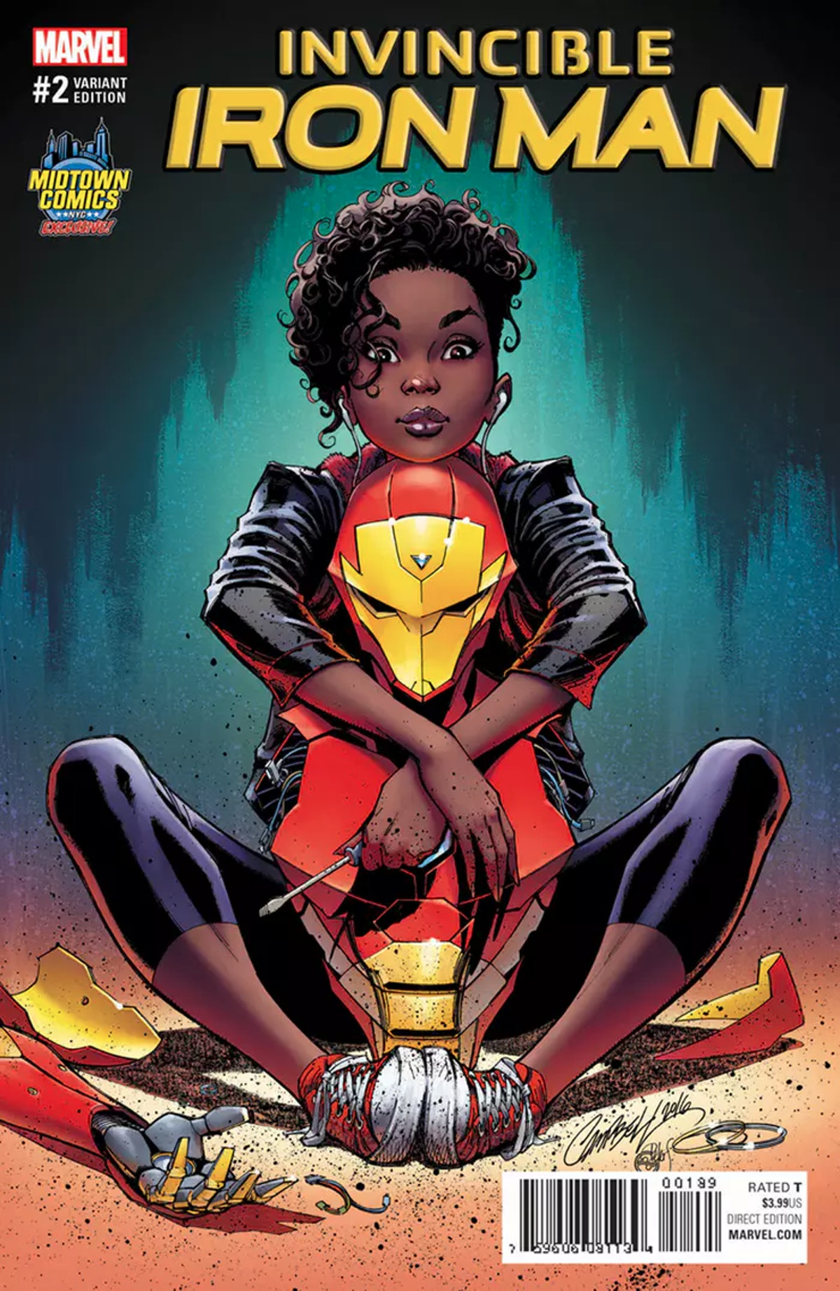 Invincible Iron Man #2 Variant Cover for Marvel by J. Scott Campbell