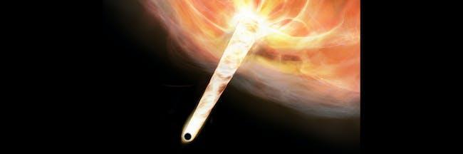 speeding black hole