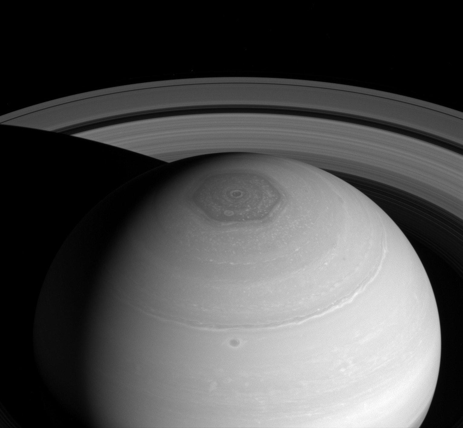 Saturn's hexagon.