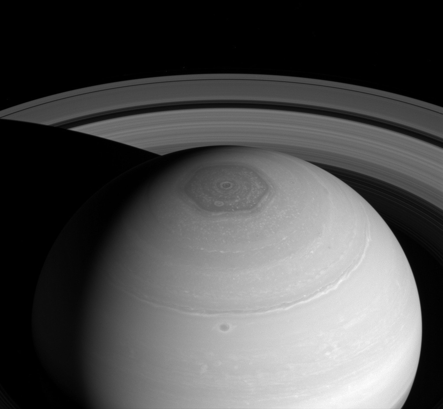 Saturn's hexagon.