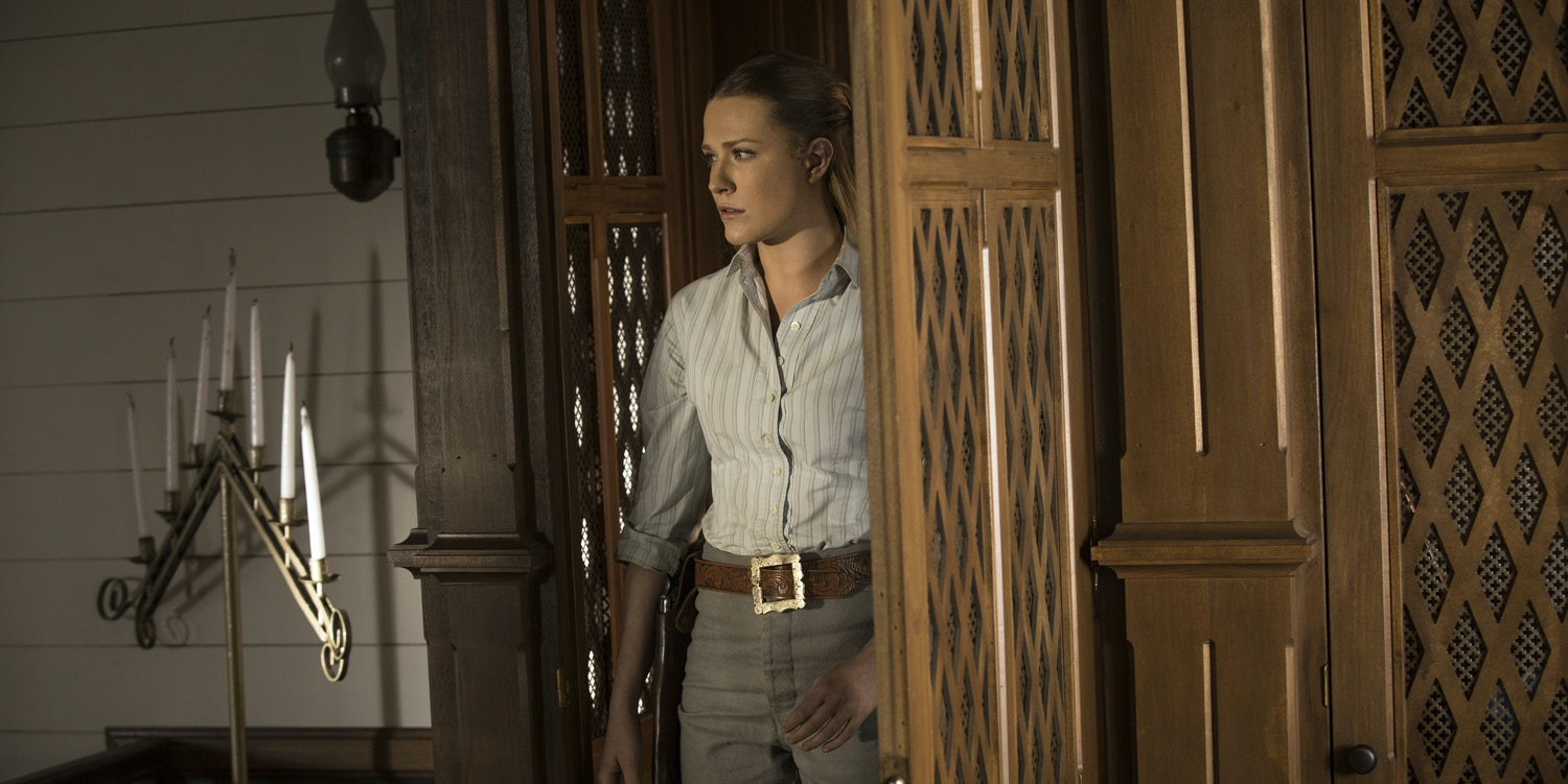 Evan Rachel Wood as Dolores on Westworld