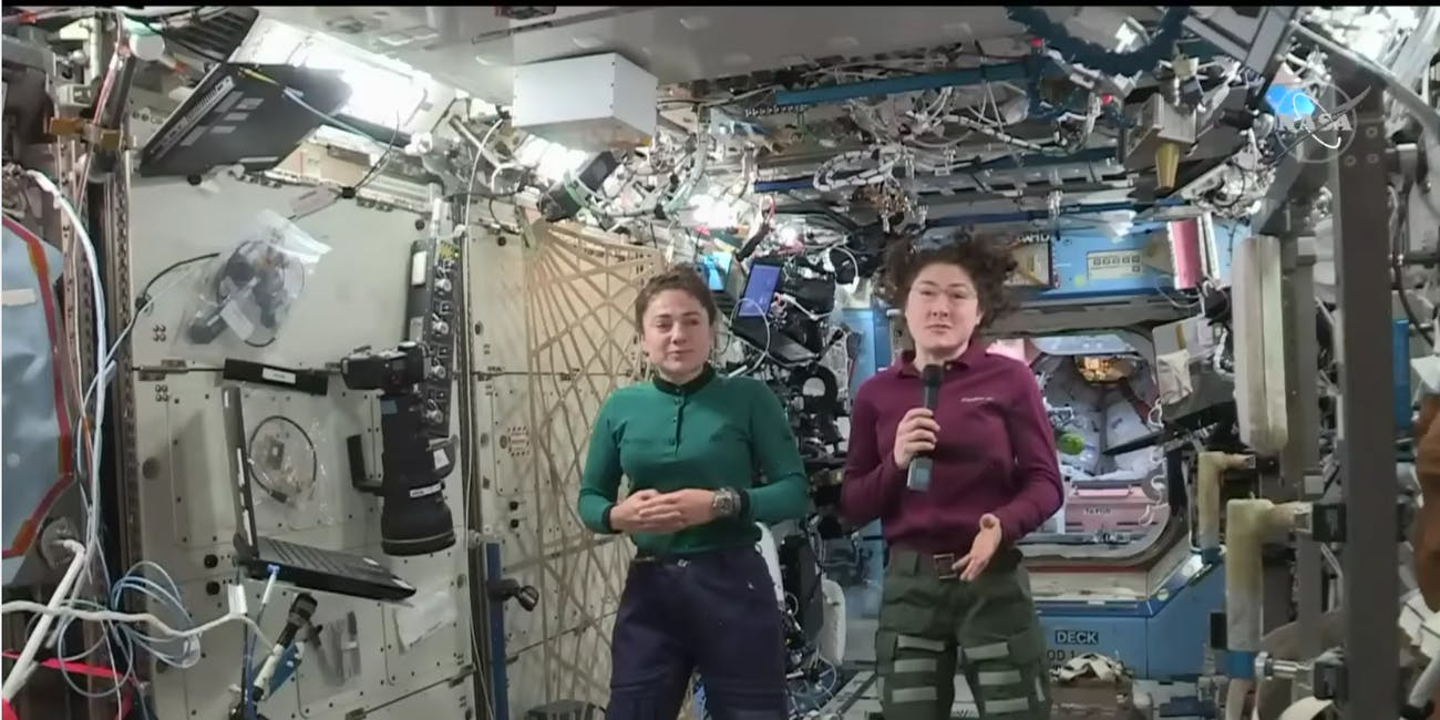 Astronauts Christina Koch and Jessica Meir discuss the historical implications of their upcoming spacewalk from the International Space Station