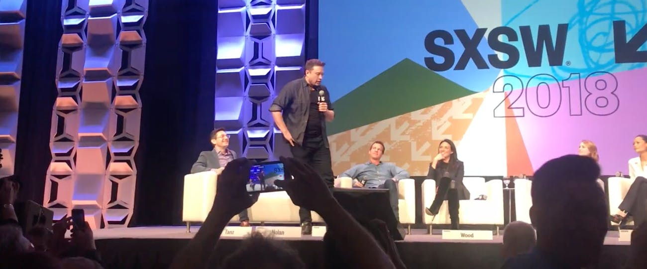Musk at South by Southwest.