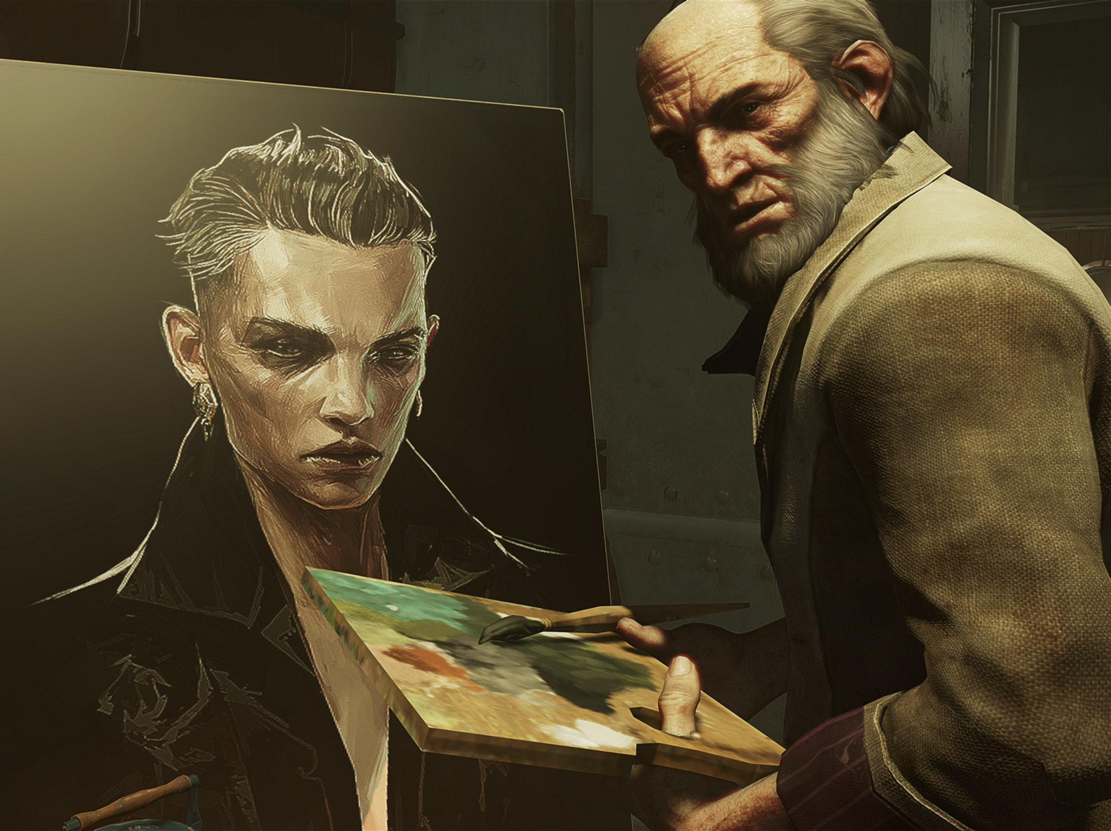 This is Anton Sokolov, seen here painting the usurper, Delilah.