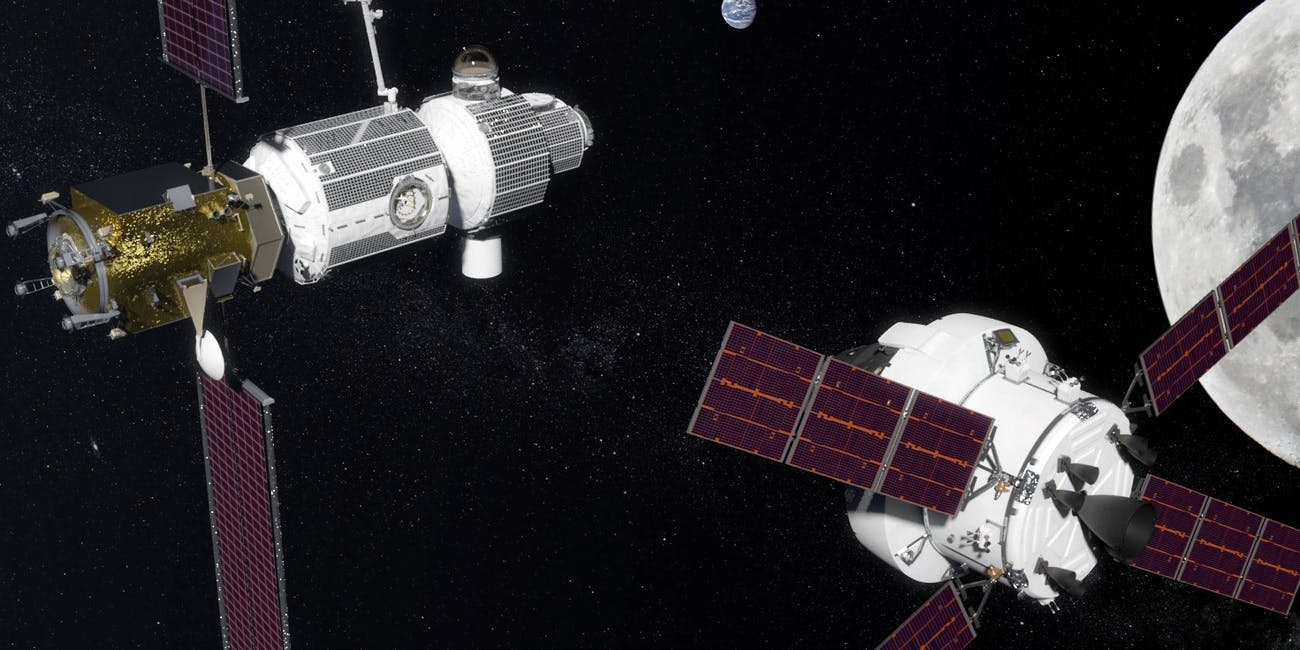 NASA's Deep Space Gateway  that could be placed around the Moon.