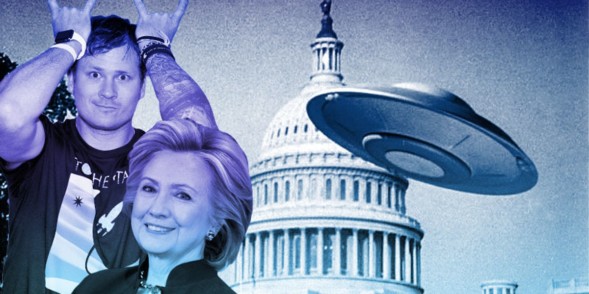 Hillary Clinton's campaign manager might appear in former-Blink 182 singer Tom DeLonge's UFO documentary.
