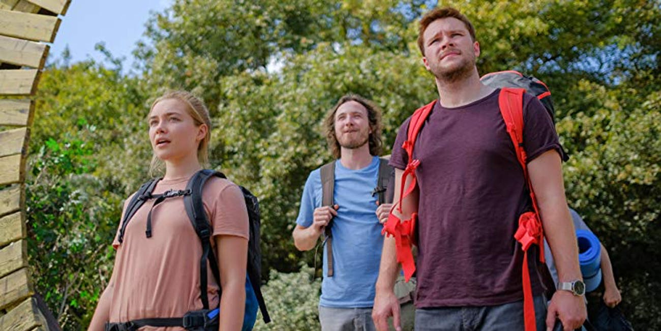 Florence Pugh (Dani) and Jack Reynor (Christian) in A24's 'Midsommar'