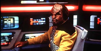 Worf (Michael Dorn) in 'Deep Space Nine'