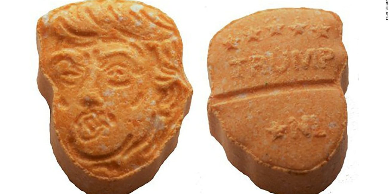 German Drug Dealers Got Caught With Trump-Shaped Ecstasy