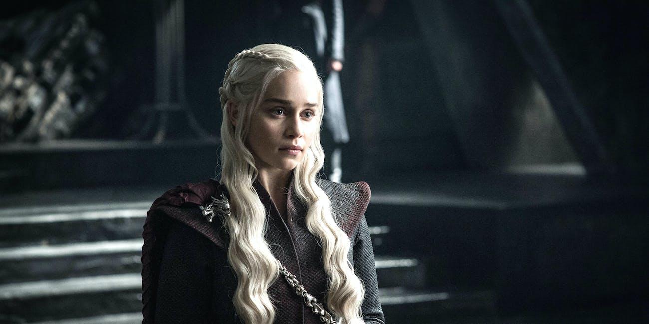 Emilia Clarke as Daenerys in 'Game of Thrones' Season 7