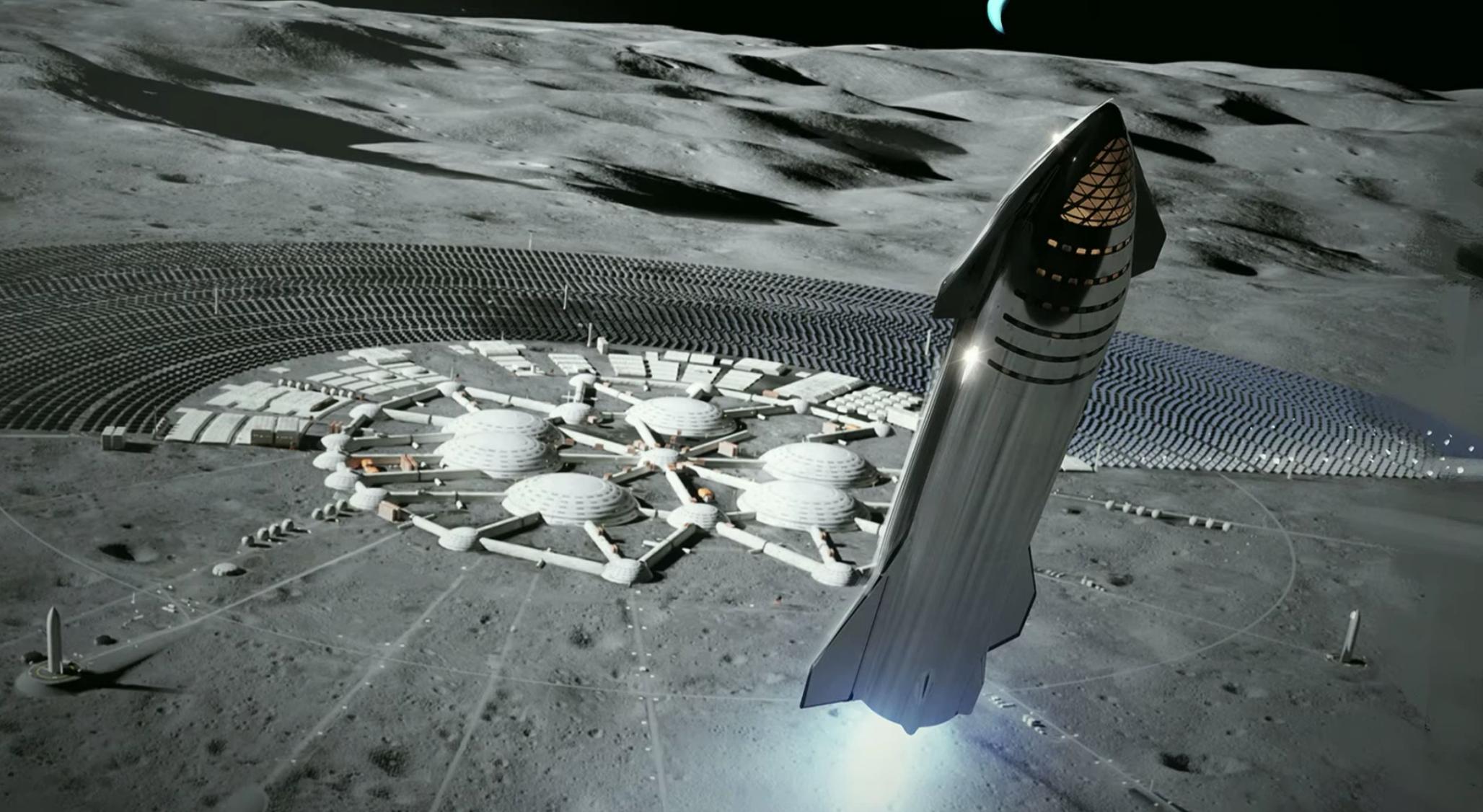 Moon Base Concept Art