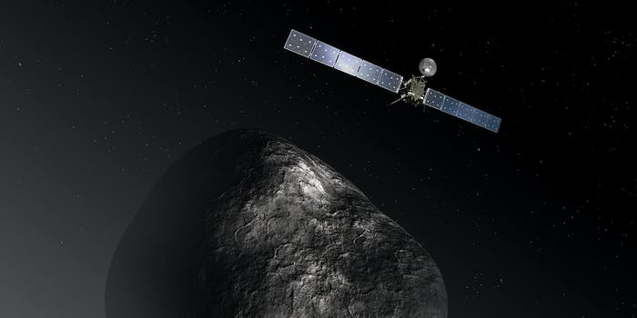 Artist's depiction of Rosetta at the comet.