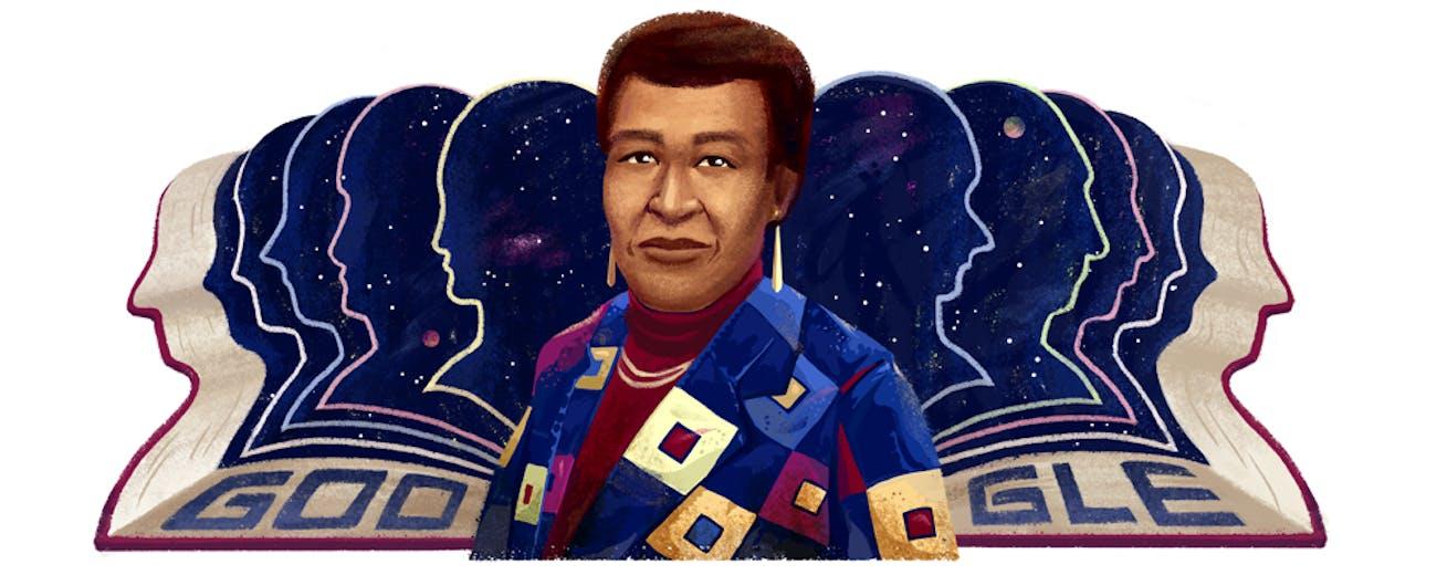 The Octavia E. Butler Google Doodle.