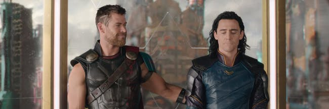 Thor and Loki in 'Thor: Ragnarok'.