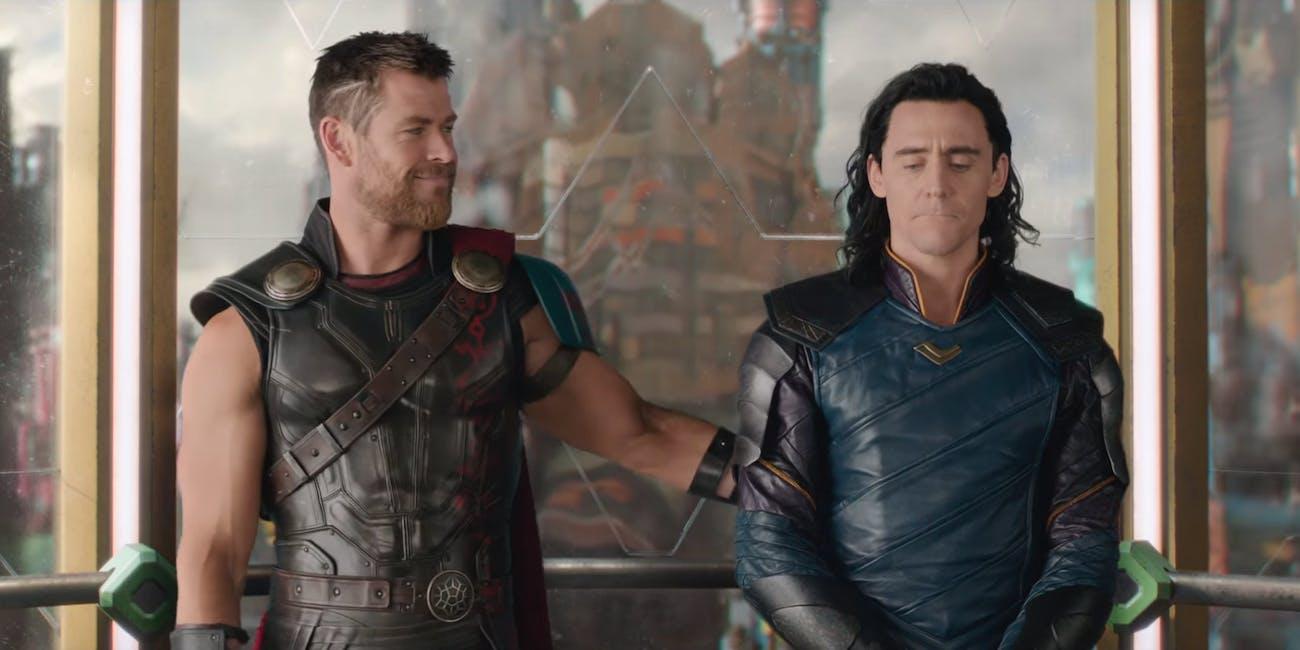Thor and Loki in 'Thor: Ragnarok'.
