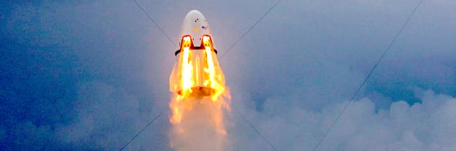 The Dragon 2 tests its thrusters that could be used if there's a launch abort.