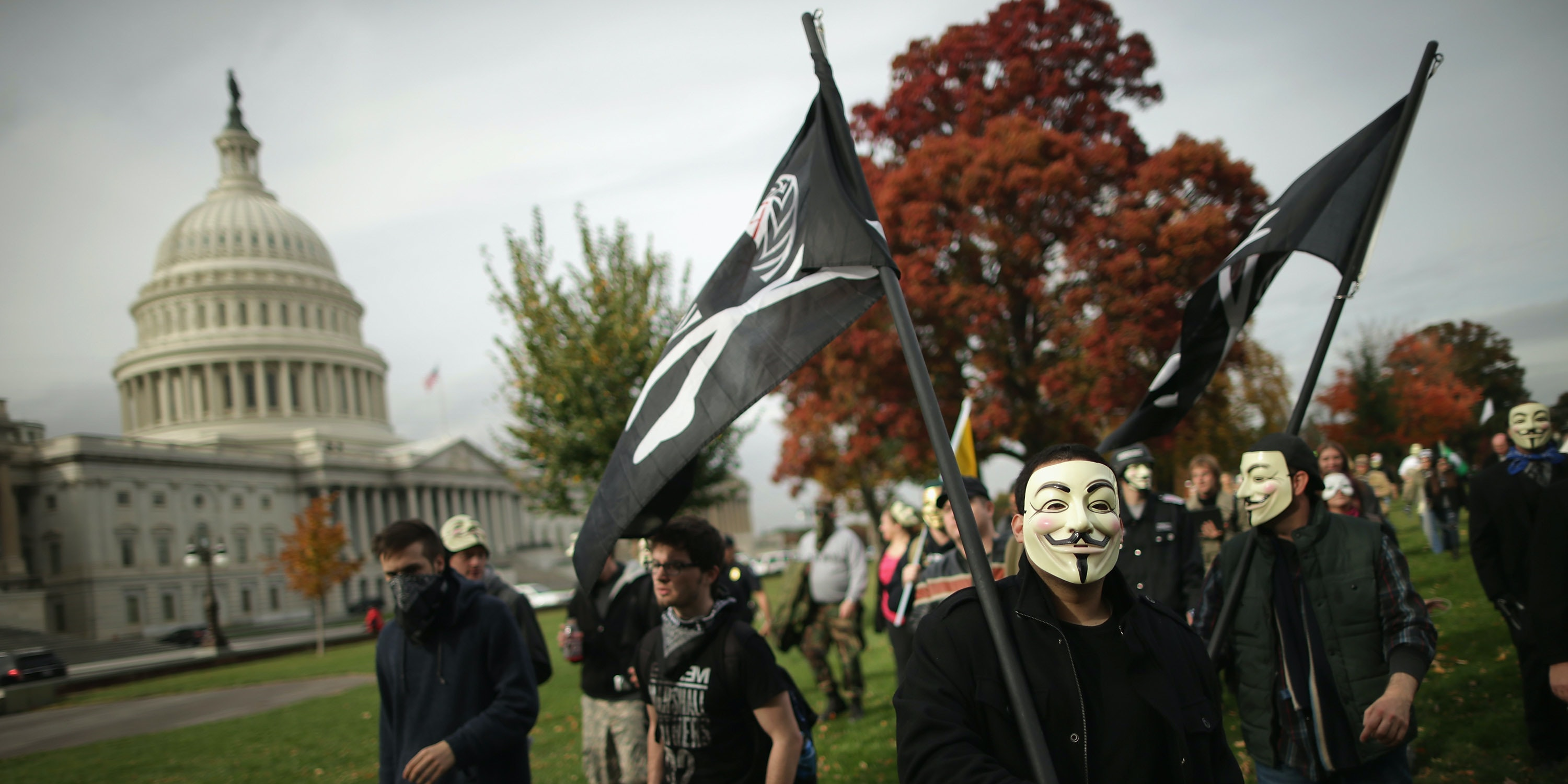 Million Mask Marches Happened Worldwide, But Violence Stayed in London