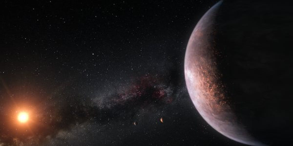 Artist's rendition of TRAPPIST-1 system