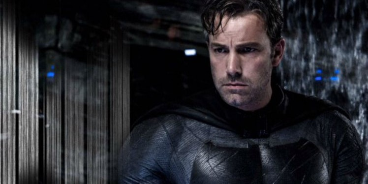 Ben Affleck as Batman without his cowl.