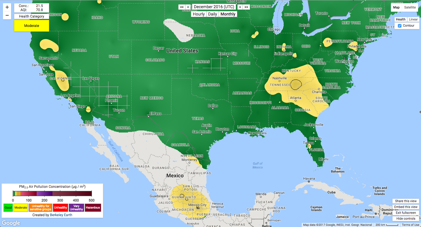 The Worst Air Quality In The World Mapped Inverse - Air-pollution-us-map