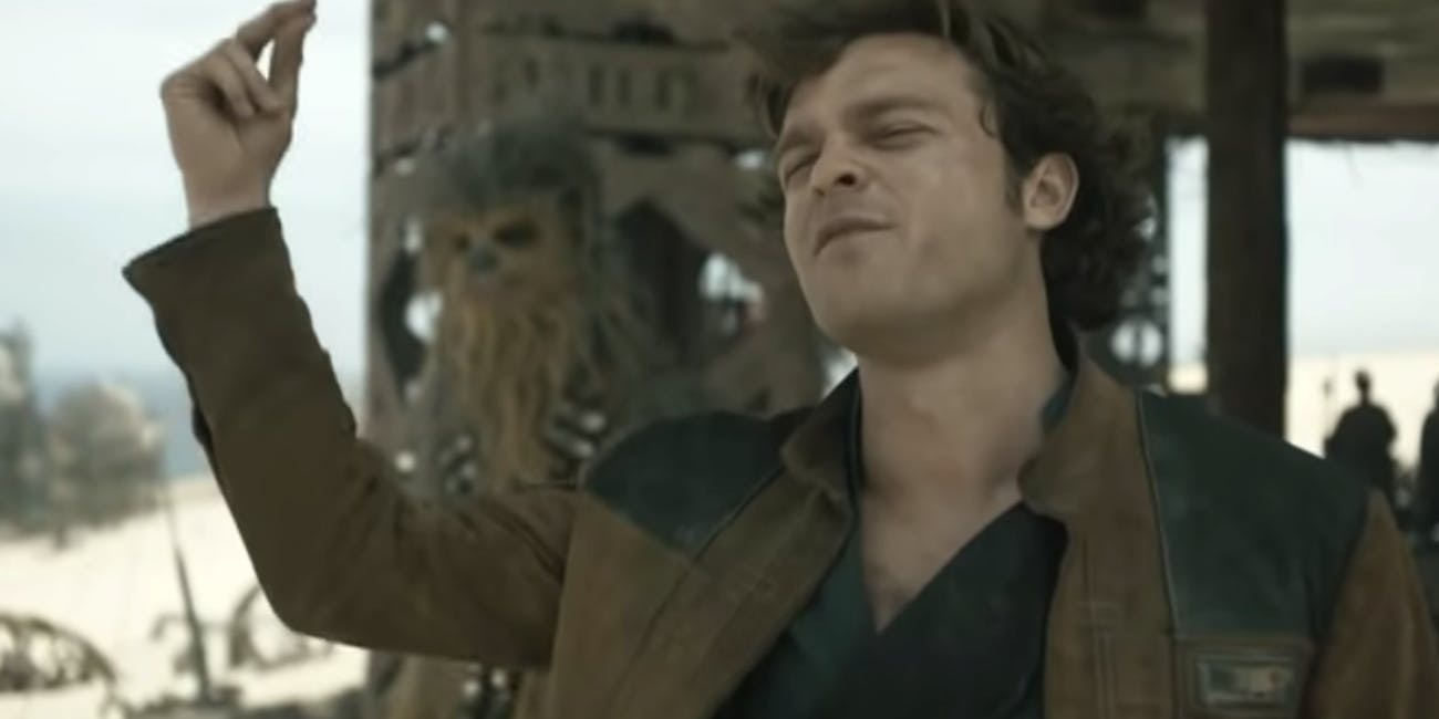 Han gets real cocky in 'Solo: A Star Wars Story'