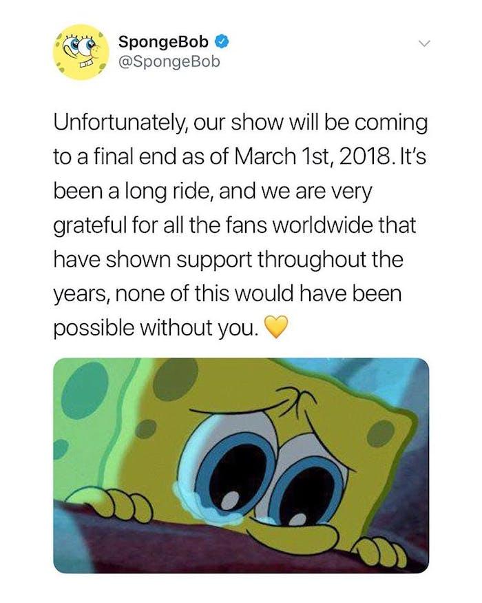 spongebob fake news
