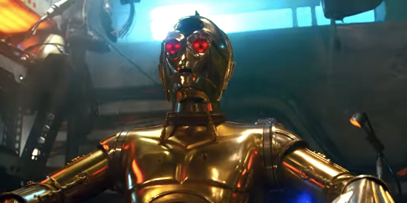 Is C-3PO evil in 'The Rise of Skywalker'?