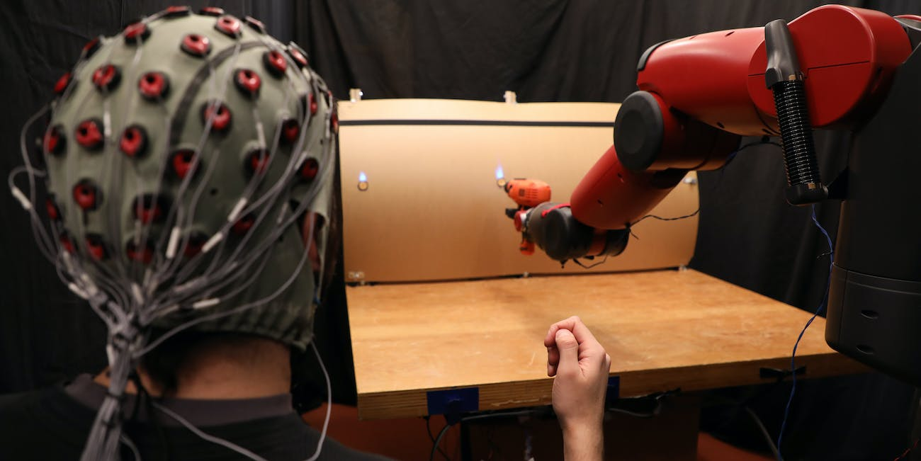 brain wave sensing robot